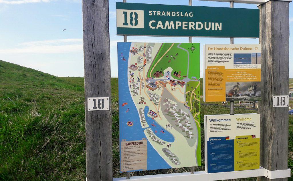 informatiebord strandslag Camperduin