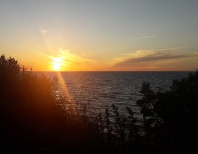 zonsondergang bij Steinbeck